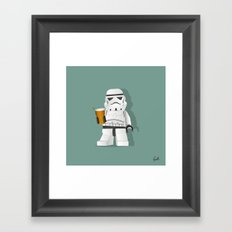 Trooper Beer Framed Art Print
