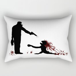 Zombie Control in Action Rectangular Pillow