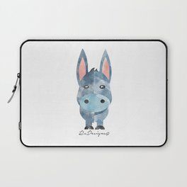 Water Colour Baby Donkey Laptop Sleeve