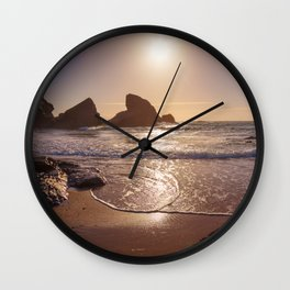 bright day on the beach Wall Clock
