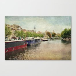 Strasbourg Riverboats Canvas Print