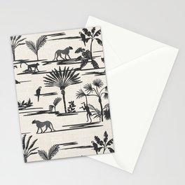 JUNGLE THRIVE BLACK Stationery Cards