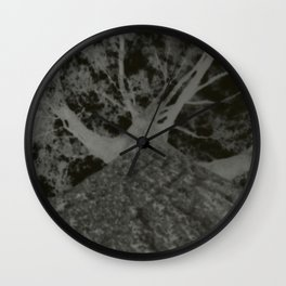 Pinhole Tree Negative Wall Clock