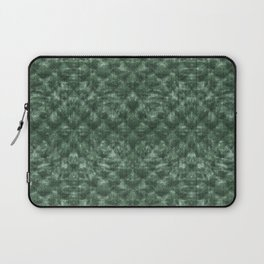 Quilted Forest Green Velvety Pattern Laptop Sleeve