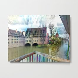 An Abstract Sight of Nuremberg Metal Print