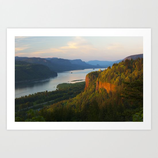 Columbia River Gorge Sunset. Art Print