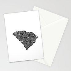 Typographic South Carolina Stationery Cards