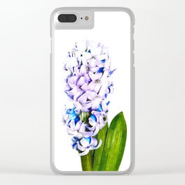 Hyacinth Illustration Clear iPhone Case
