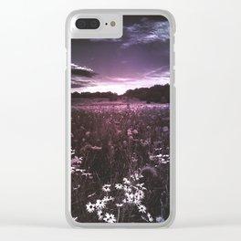 Flower Fields Clear iPhone Case