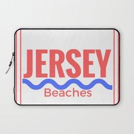 Jersey Beaches Graphic Laptop Sleeve