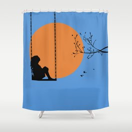 Dreaming like a child Shower Curtain
