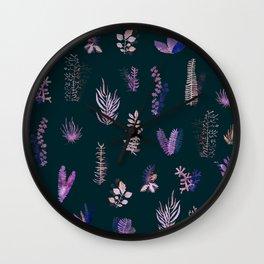 Violet Garden at Night Wall Clock
