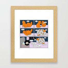 Midnight Brawl Framed Art Print