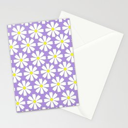 Lilac daisies Stationery Cards