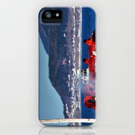 Hovercraft Racing to Town iPhone Case