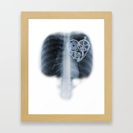 X Ray Bicycle heart components Framed Art Print