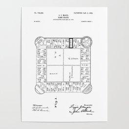 Monopoly: Original Patent Drawing Poster