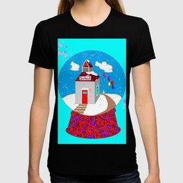 A Winter Wonderland Snow Globe School House T-shirt