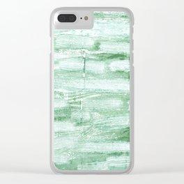 Sea Foam Green Clear iPhone Case