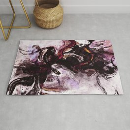 Purple Abstract Art / Surrealist Painting Rug