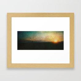 Barcelona Sundown Framed Art Print