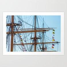 Full Mast Art Print