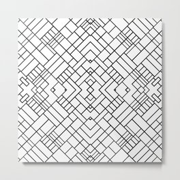 PS Grid 45 Metal Print