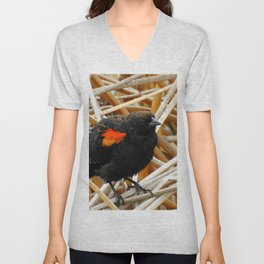 Juvenile Male Redwing Blackbird Unisex V-Neck