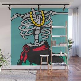 Drunk Skeleton Wall Mural