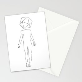 sensory deprivation icosahedron Stationery Cards