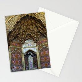 Persian Art Nasir-al-Molk Mosque Facade Decorative Tile Mosaic, Shiraz Stationery Cards