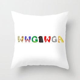 WWG1WGA (Where we go one, we go all.) Throw Pillow