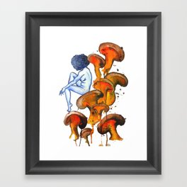 Lady and the Shroom Framed Art Print