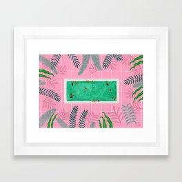 Pink riad pool Framed Art Print