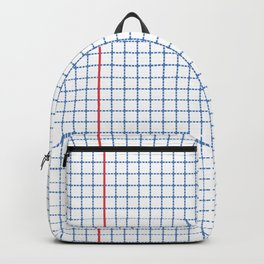 Dotted Grid Red and Blue Backpack