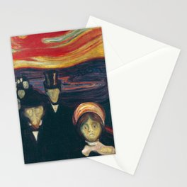 Edvard Munch - Anxiety Stationery Cards