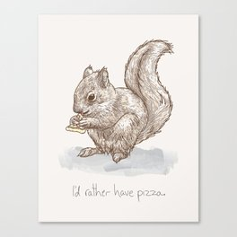 Pizza for All (Including Squirrels) Canvas Print
