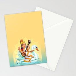 Sarasvati, Hindu goddess of knowledge, arts and learning. Stationery Cards