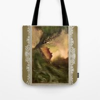 wind Tote Bags featuring Wind by Iris V.