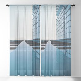 Modern Architecture Sheer Curtain