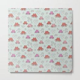 Little cute baby crab ocean life kids pattern Metal Print