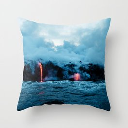 Rising New Earth Throw Pillow