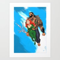 King and Queen of the sea Art Print