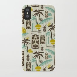 Island Tiki - Tan iPhone Case