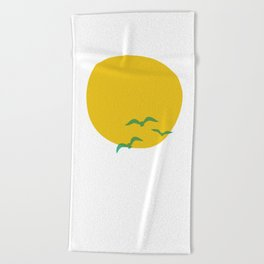 Midsummer Sun Beach Towel
