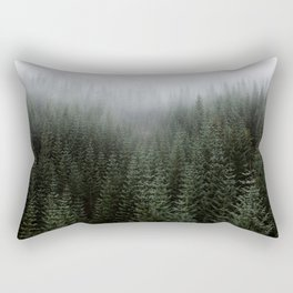 Dizzying Misty Forest Rectangular Pillow