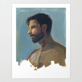 BRAD, Semi-Nude Male by Frank-Joseph Art Print