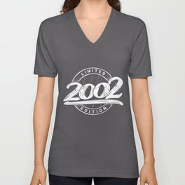 Limited Edition 18 year old born in 2002 Unisex V-Neck