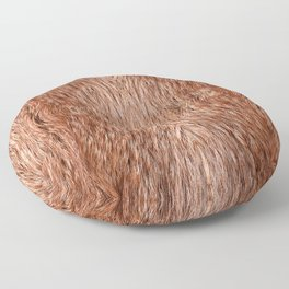 Red fox fur cloth texture abstract Floor Pillow