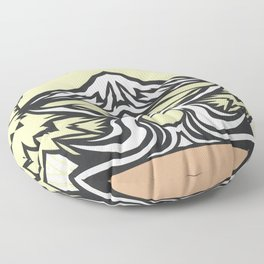 To Mt. Hood with Love Illustration Floor Pillow